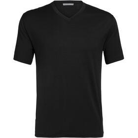 Icebreaker Ravyn SS V-Neck Top Herre black